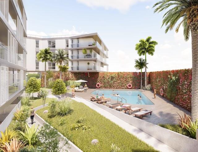 102 viviendas  de entre uno y tres dormitorios y numerosos servicios que ofrece el centro urbano de la capital.