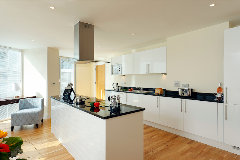 Kitchen at Canary Wharf apartment