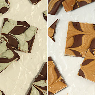 2-Ingredient Holiday Bark {Mint Chocolate or Chocolate Peanut Butter}