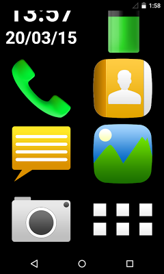 senior easy phone - screenshot
