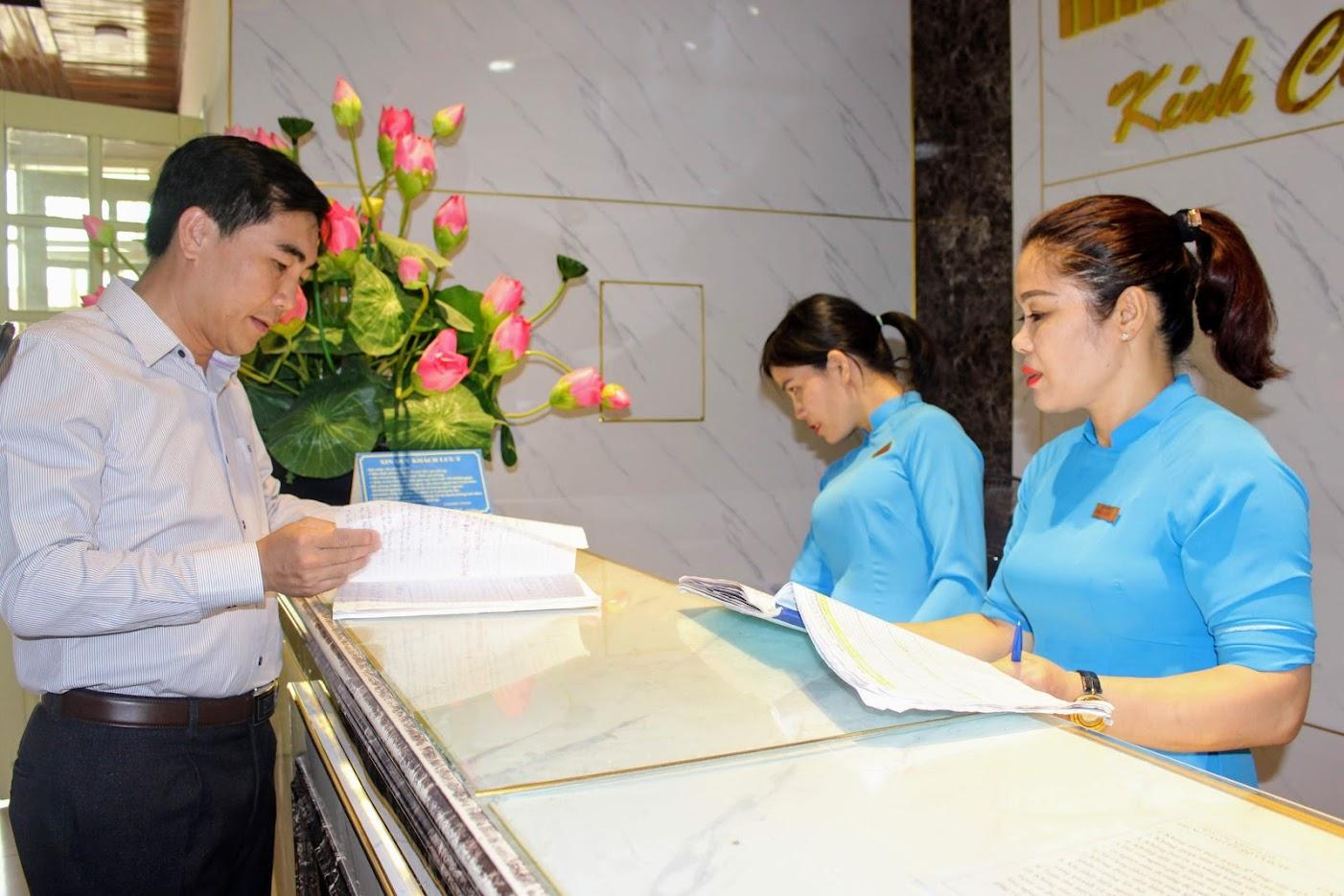 Công tác tiếp đón, thái độ ứng xử luôn được Giám đốc nhà nghỉ dưỡng quan tâm sát sao