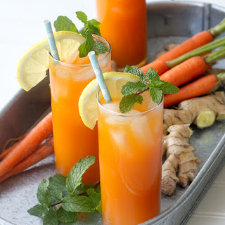 Ginger Mint Carrot Cocktail
