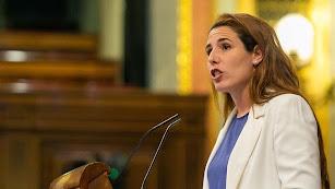 Rocío de Meer, diputada almeriense de Vox, este martes en el Congreso.