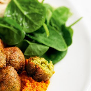 Vegetarian Falafels with Roasted Carrot Dip