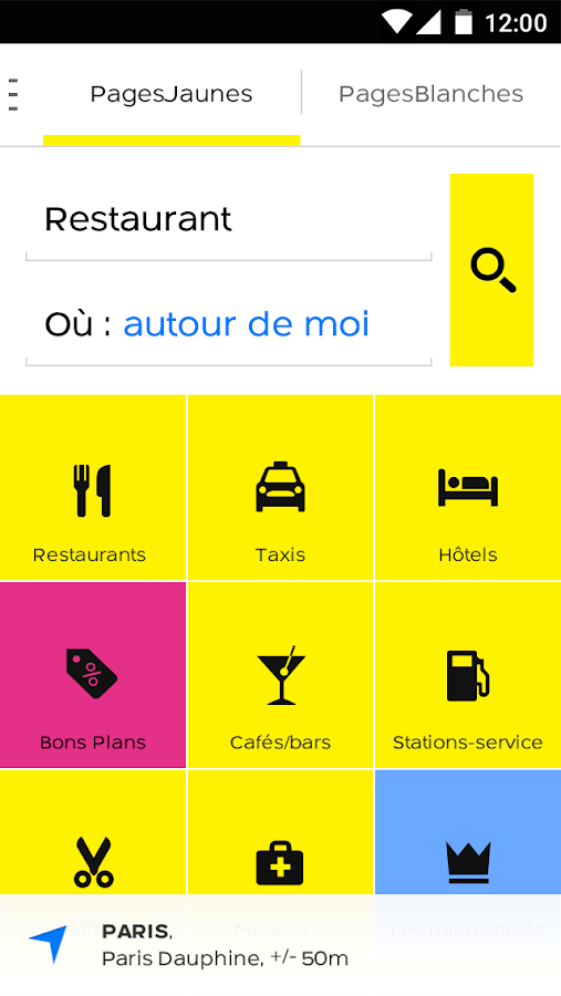 PagesJaunes – recherche locale- screenshot