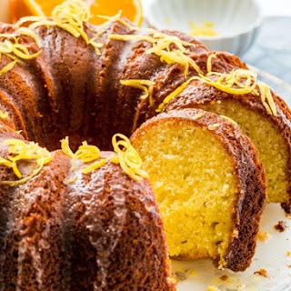 Lemon Orange Cake with Lemon Honey Glaze Recipe
