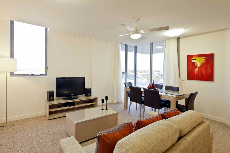 Stunning living area in Quest South Brisbane