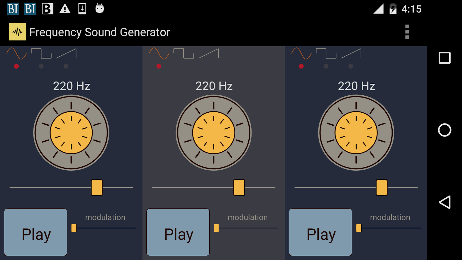 Frequency Sound Generator- screenshot