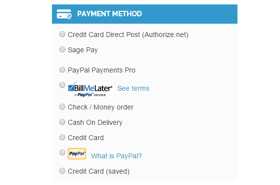 Integrated with most popular payment methods