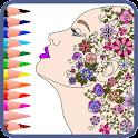 Mandala - adults coloring book icon
