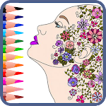 ? Mandala coloring book for adults Icon