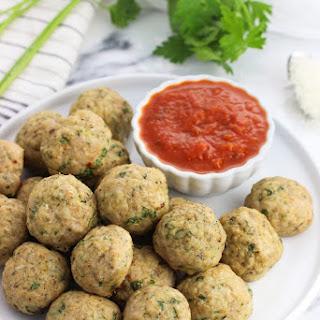 Italian Baked Turkey Meatballs.