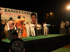 Photo: Member of Parliament (MP) Dr. Sanjeev Naik... addressing the audience.