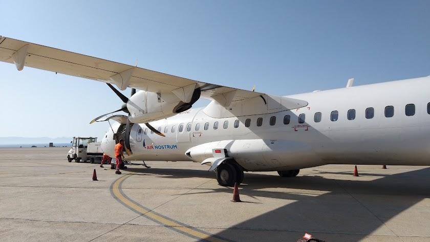 Un avión de la compañía Air Nostrum.