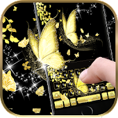Gold butterfly Keyboard Theme golden dream