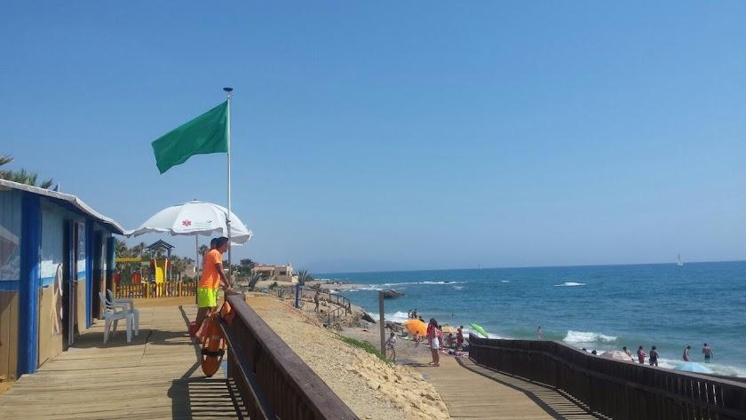 Una de las playas de Mojácar durante este verano.