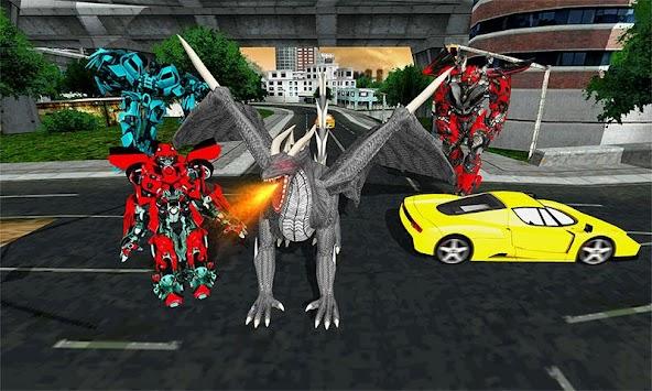 Dragon Robot Transforming Battle Robot Warrior apk screenshot