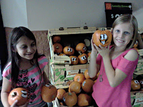 Photo: The girls spotted these pumpkin characters, they were cute but I like to do my own.