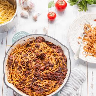 Mushroom Bolognese Recipe {vegan}.