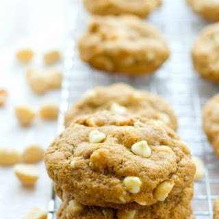 White Chocolate Macadamia Nut Coconut Oil Cookies.