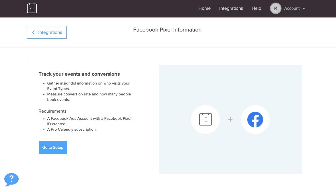 Calendly's Facebook Pixel Information