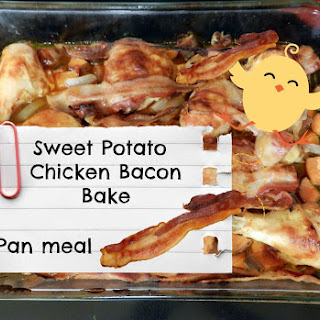 Sweet Potato Chicken Bacon Bake
