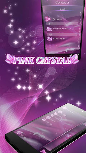 Pink Crystal GO SMS