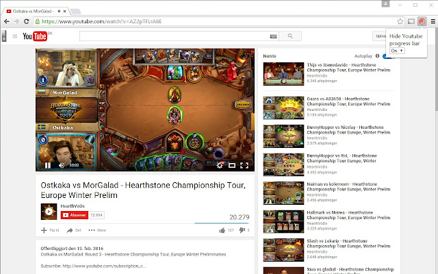 Hide Youtube Progress Bar