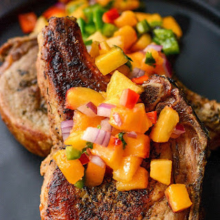 Slow Cooker Pork Chops with Peach Salsa.