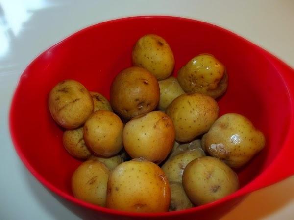 Left over cold salt potatoes