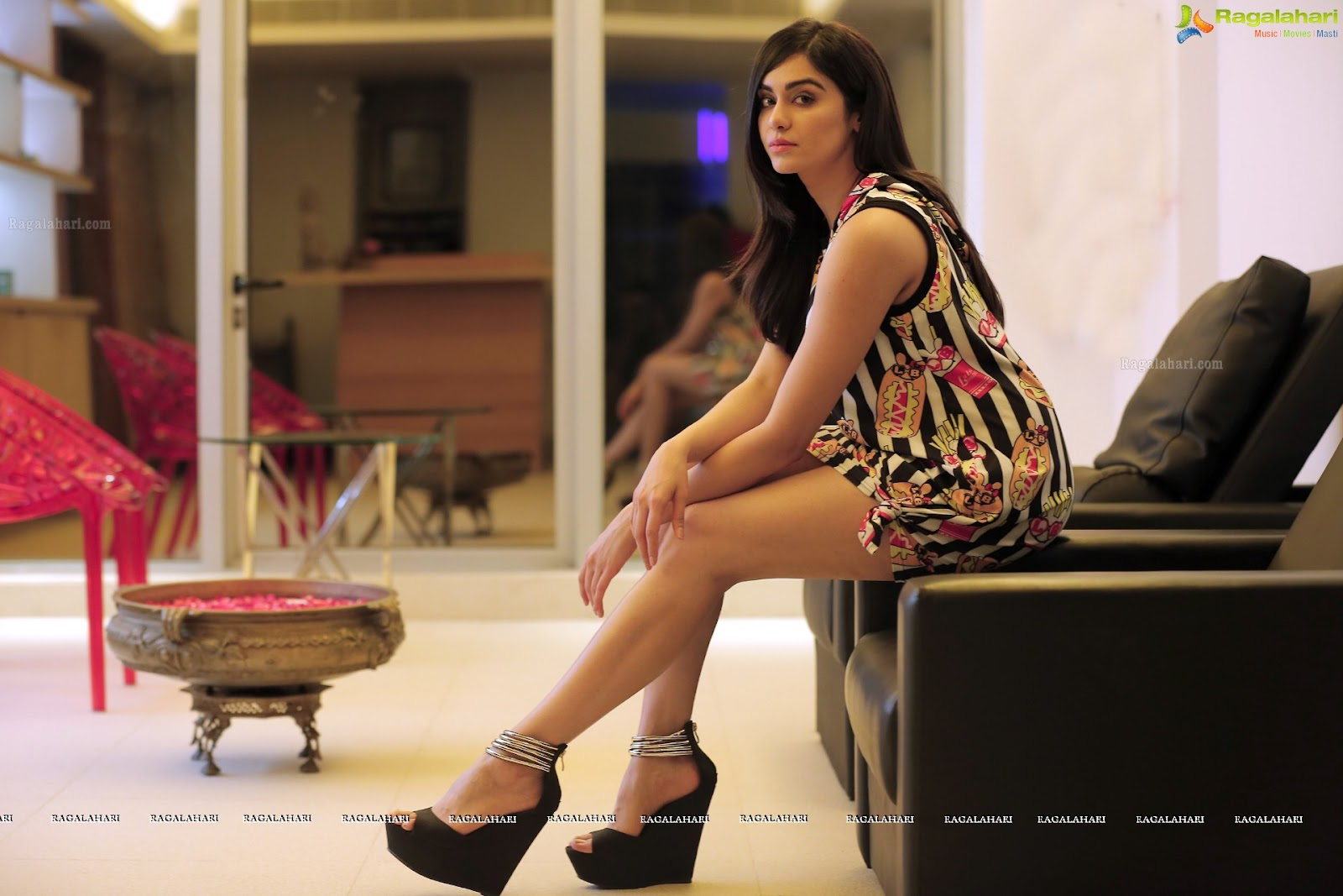 Adah Sharma super sexy in hot ahove thigh short dress