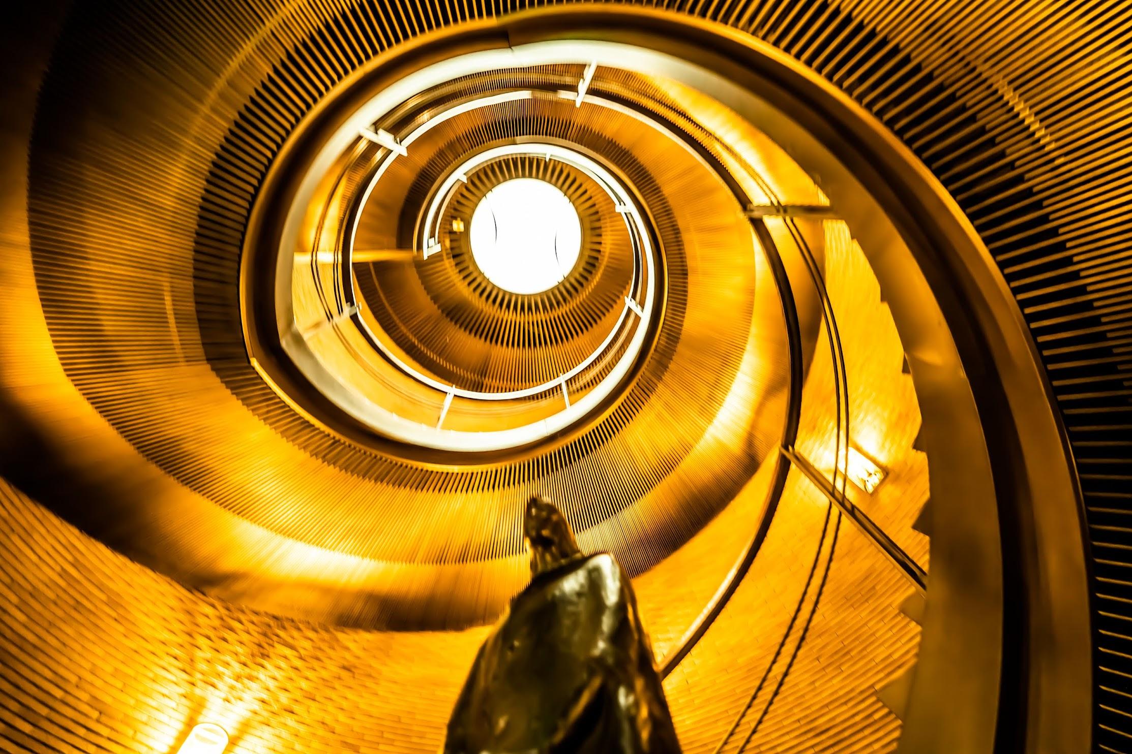 Spiral Staircases Asahi Plaza Umeda5