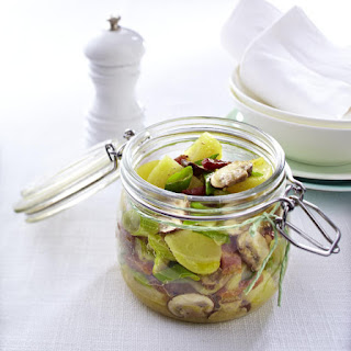 Warm Potato Salad with Mushrooms and Bacon