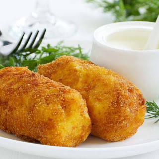 Fennel Potato Croquettes with Paneer