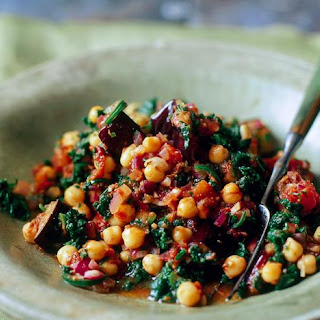 Spinach, Aubergine and Chickpea Curry Recipe
