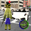 Green Monster Stickman Rope Hero Gangstar Crime APK