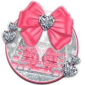 Pink Silvered Bow Theme