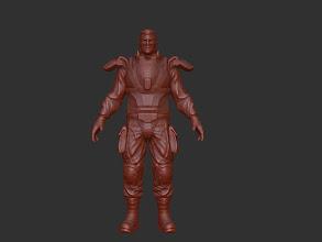 Photo: In-progress armor vest.