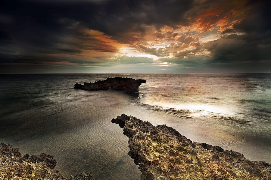 Jagged rock formations by Carlos David - Landscapes Waterscapes