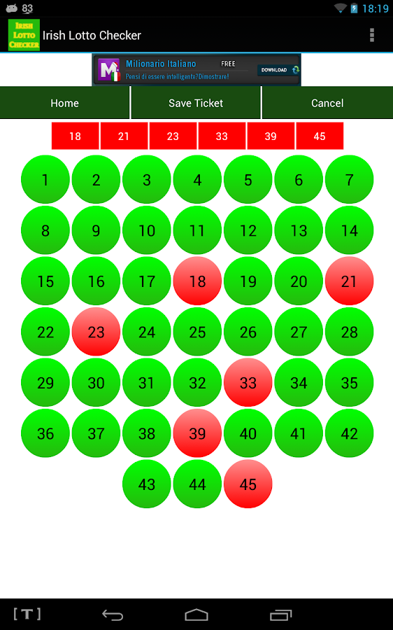 Irish Lotto Checker- screenshot