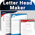 Letterhead Maker Business letter pad template Logo icon