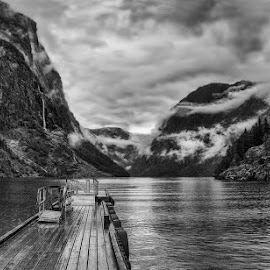 Gudvangen - Norway by Jane Bjerkli - Black & White Landscapes