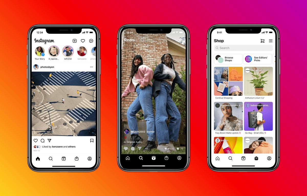 Media społecznościowe - Instagram nowa strona główna