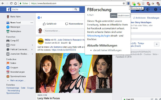 FBforschung.de Browser-Plugin