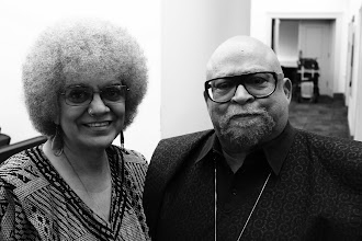 Photo: Dr. Maulana Karenga, Chair of the Dept. of Africana Studies at California State University, Long Beach and his wife.