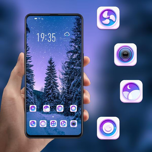 Night forest starry sky landscape theme | snow ss1