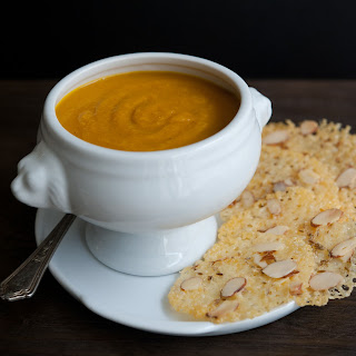 Curried Winter Squash Soup with Cheddar Crisps