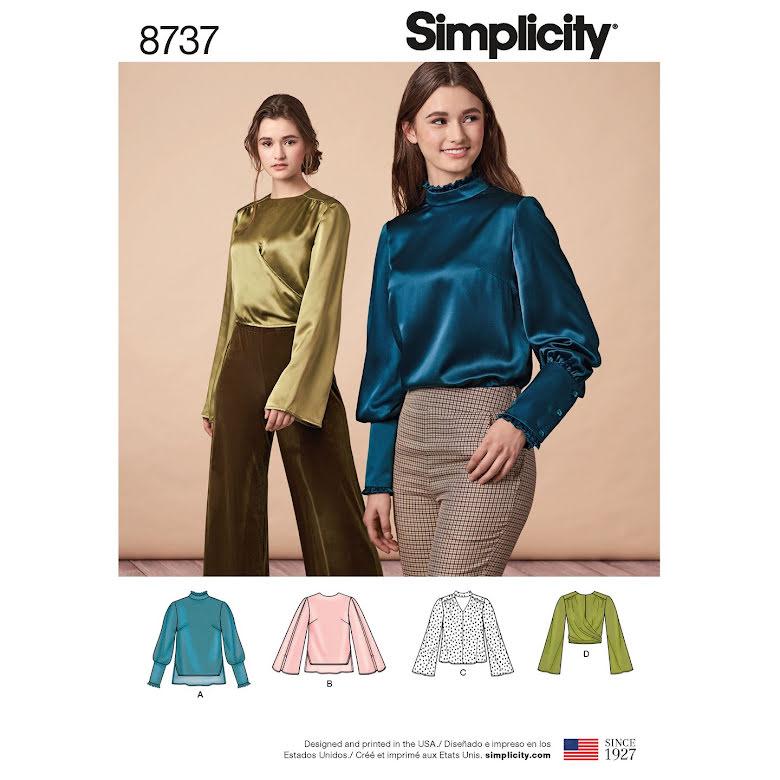 Blus till fest och vardag, Simplicity 8737