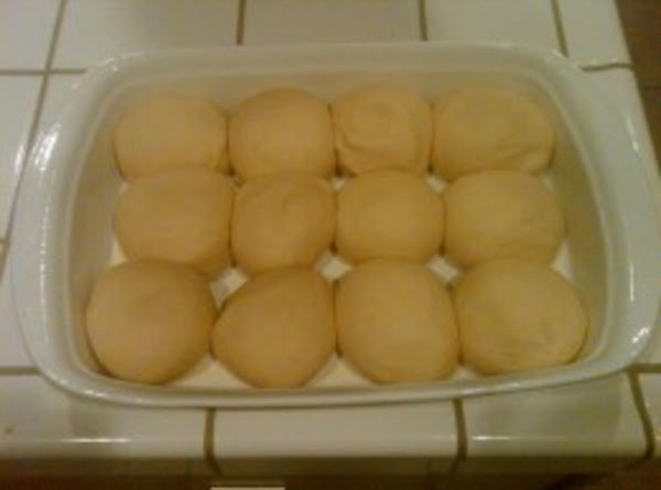 Once the dough has doubled in size punch down and make 12 round golfball...