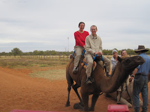 Photo: On the way back to Alice Springs, we stopped at a Camel Farm and rode a racing camel!